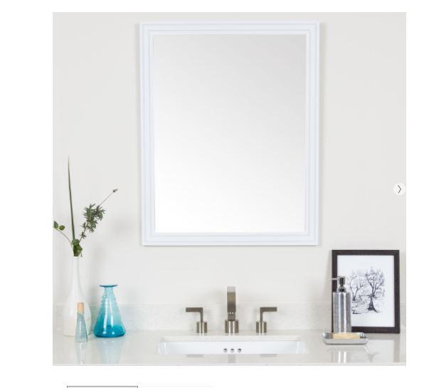 Cosette framed mirror in white