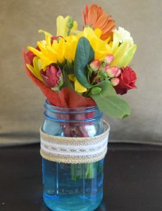 DIY mason jar teacher appreciation bouquet gift