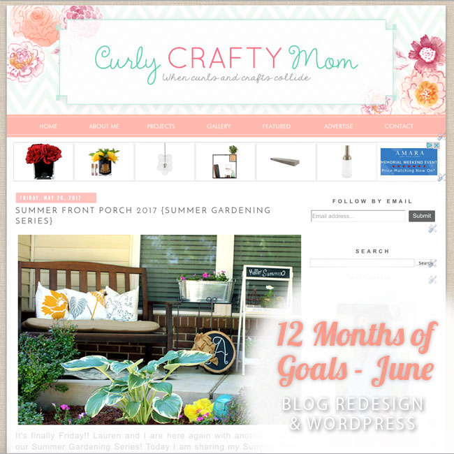 June goal, Curly Crafty Mom