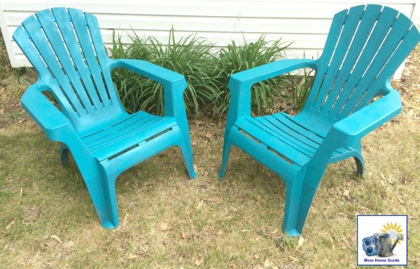 spray painted adirondack chairs