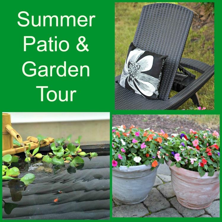 summer patio and garden tour