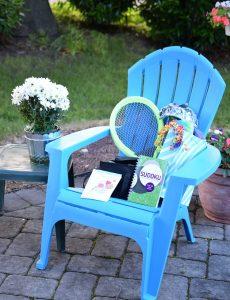 Adirondack chair summer gift basket idea
