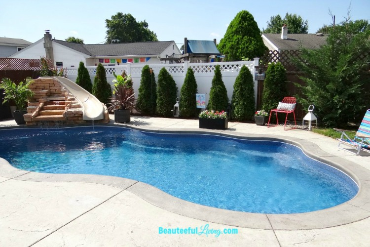 Inground swimming pool from Beauteeful Living