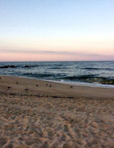 Asbury Park beach at sunset