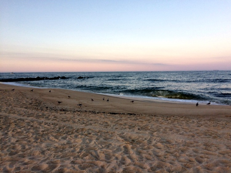 Asbury Park beach at sunset