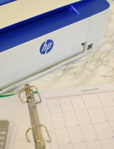 Creating back to school printables is easy with the HP 3722 printer