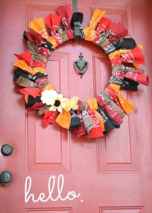 Bandana wreaths are fun and easy to make and look great!