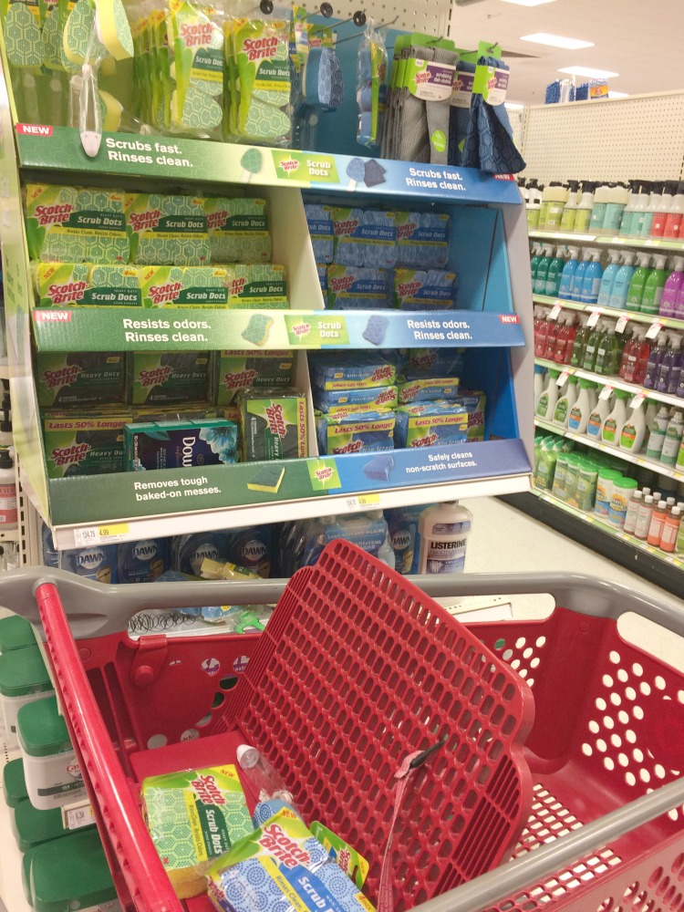 Scotch-Brite Scrub Dots sponges and dishwands at Target
