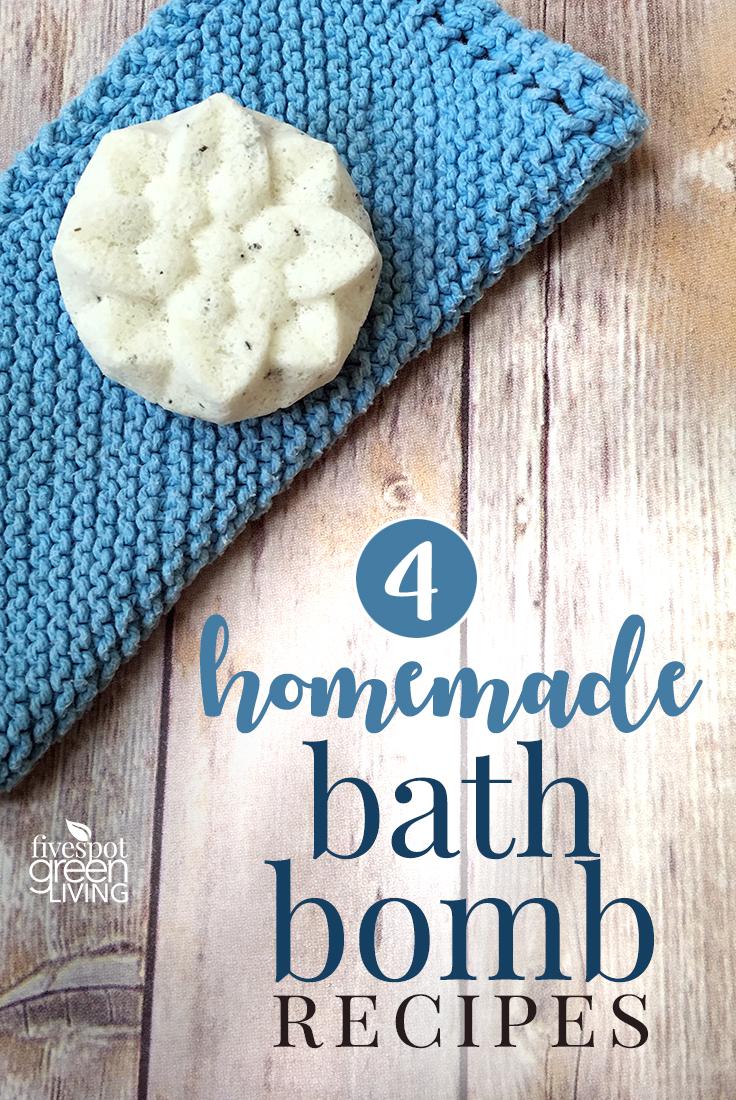 DIY bath bomb recipe by Fivespot Green Living