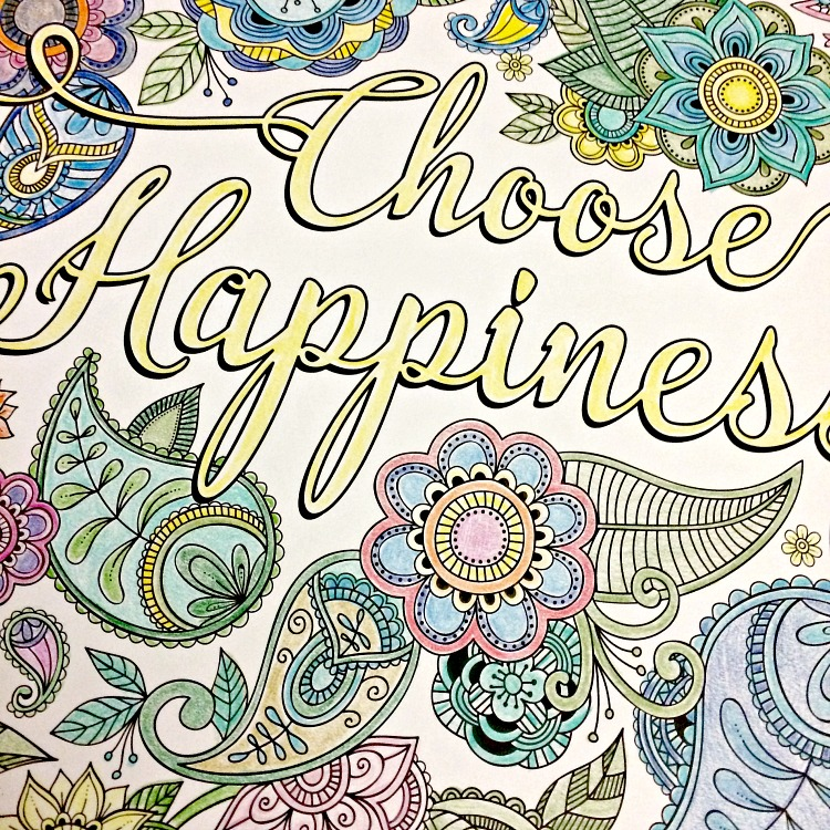 happiness coloring page