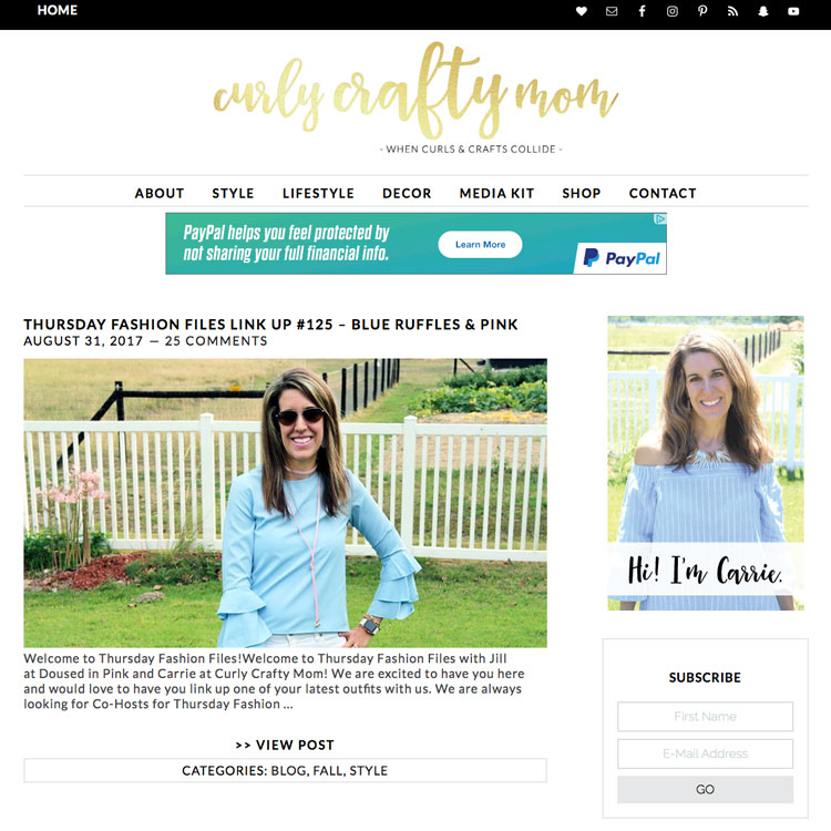 Curly Crafty Mom, a craft, decor and fashion blog for moms