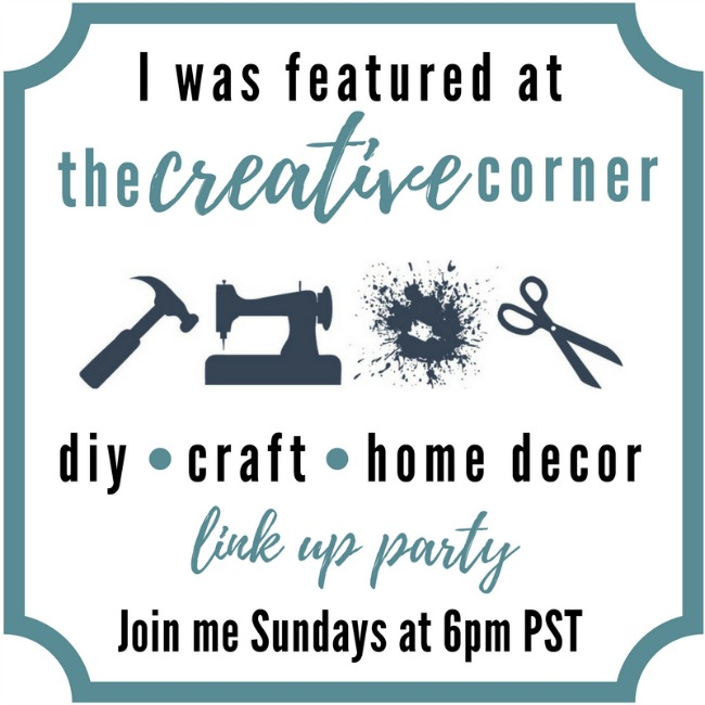 Creative Corner I've Been Featured Badge