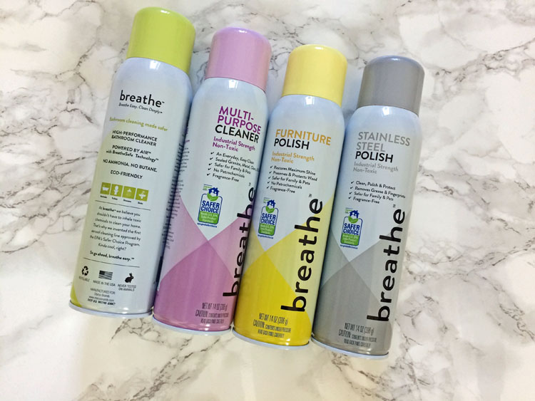 Breathe safe choice cleaning products are better for you and the envrionemnt