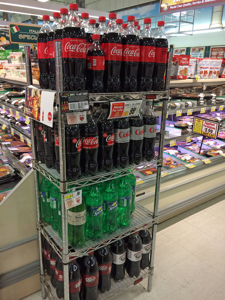 Coca-Cola in the pre-prepared food section in ShopRite
