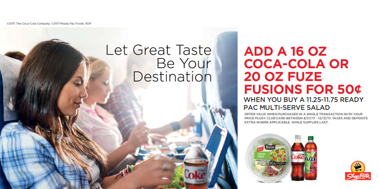 Coca-Cola and a Ready-Pac salad deal from ShopRite