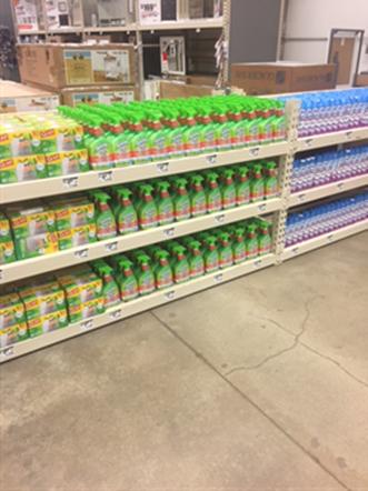 Home Depot Fantastik Scrubbing Bubbles display