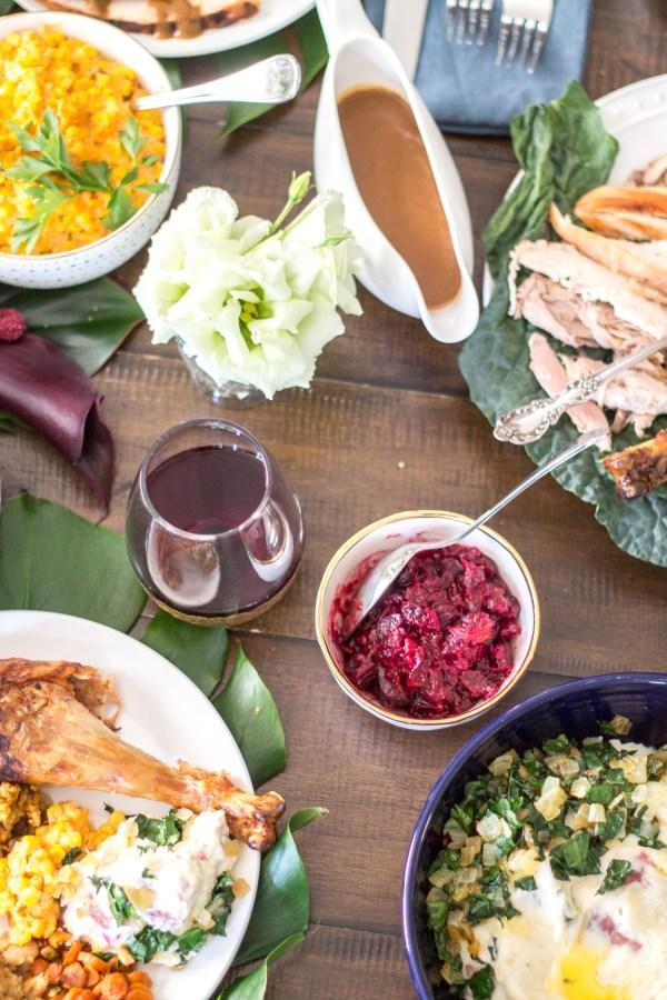 global Thanksgiving menu by The Kittchen
