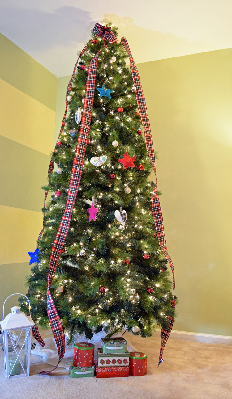 slim artificial pine Christmas tree from Treetopia
