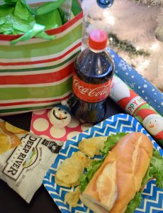 Enjoy an afternoon of wrapping Christmas gifts with the kids by picking up a meal deal at Shop & Shop