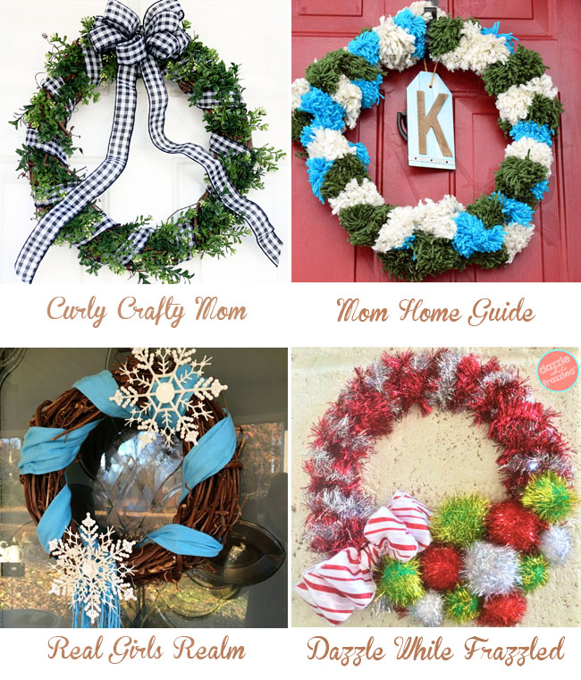 Fun holiday wreaths you can make yourself for Christmas