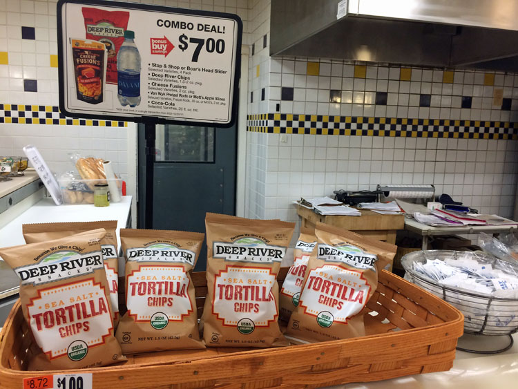 Deep River chips at Stop & Shop in the prepared foods section