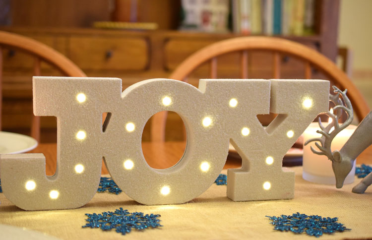 lighted joy marquee letters