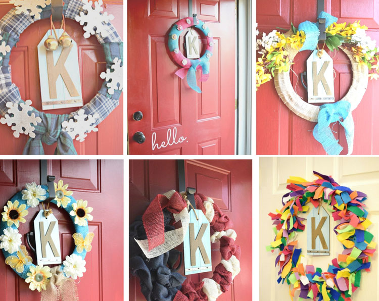 Six months of easy DIY holiday wreaths. Visit Mom Home Guide for all of the tutorials!
