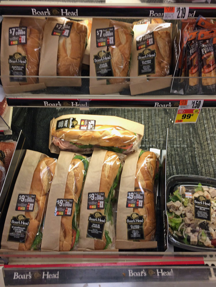 delicious and inexpensive sub sandwiches from Stop & Shop supermarket