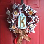 Scrappy Valentine's Day Wreath {Pinterest Challenge Blog Hop}