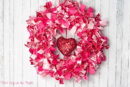 Valentine wreath by Third Stop on the Right
