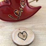 Wood Slice Valentine's Day Tokens