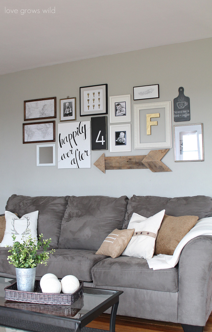 living room gallery wall by Love Grows Wild