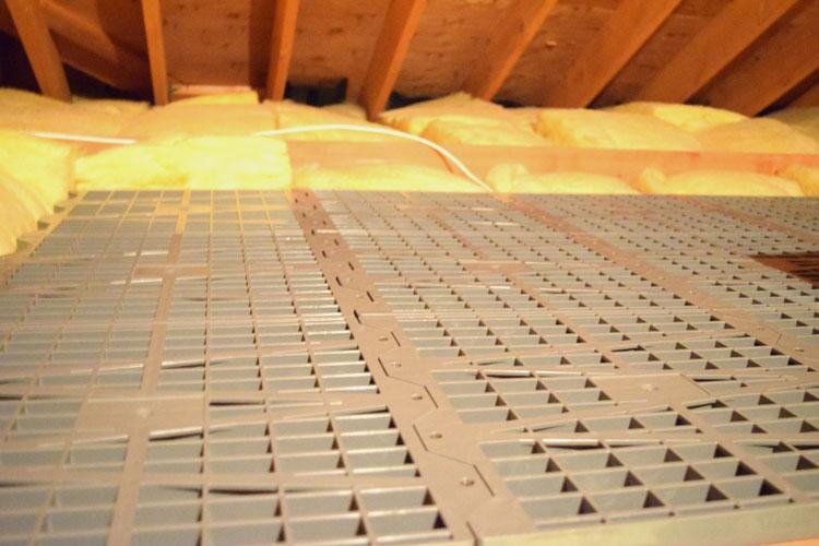 Attic Dek makes it easy to put in attic floors for storage