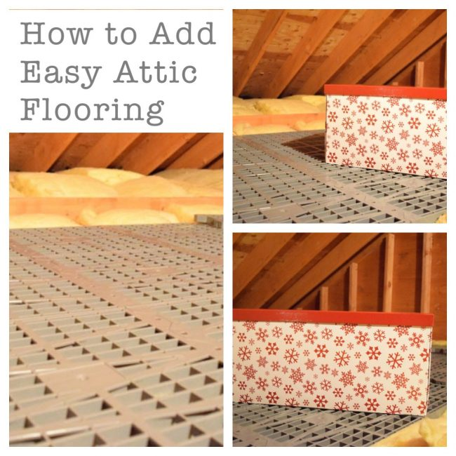 Attic Dek flooring grids are lightweight and easy to install. Just screw them into the joists of your attic, and you have quick and durable attic flooring for storage space.