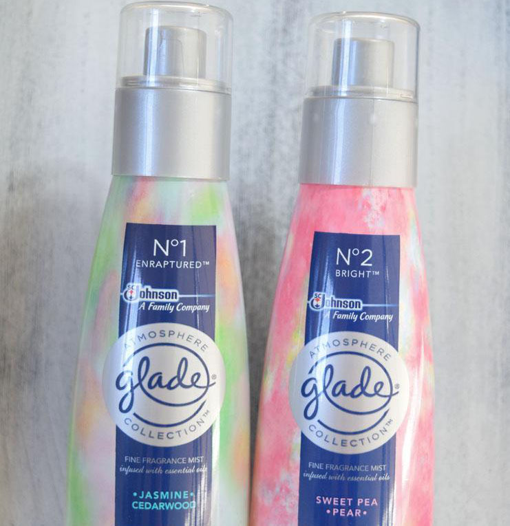 Glade Atmosphere room scented sprays for spring