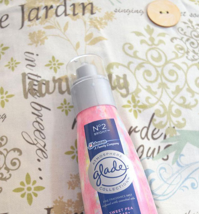 updating a room for spring with the fresh scent of Glade Atmosphere room spray