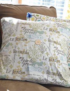 DIY spring envelope pillow covers