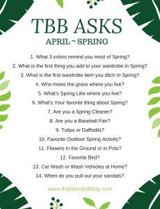 TBB Asks for April Spring