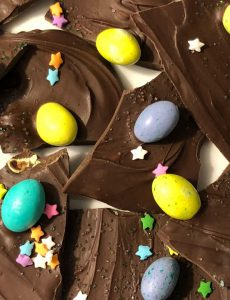easter egg chocolate bark recipe