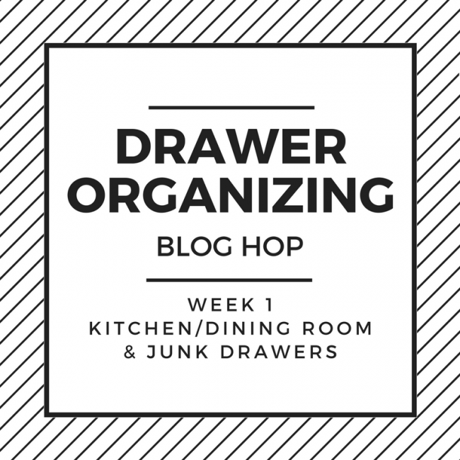 week one of drawer organization blog hop