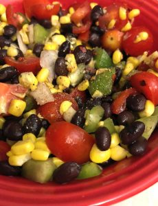 recipe for homemade bean salsa