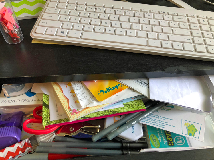 how to organize a messy office drawer