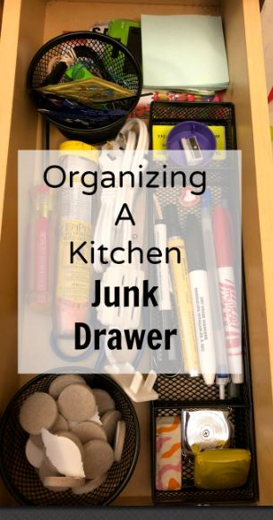 organizing a kitchen junk drawer