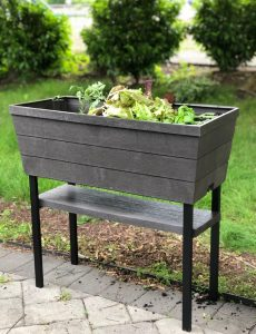 The Keter Urban Bloomer is perfect for growing vegetables (or flowers) on a patio or deck