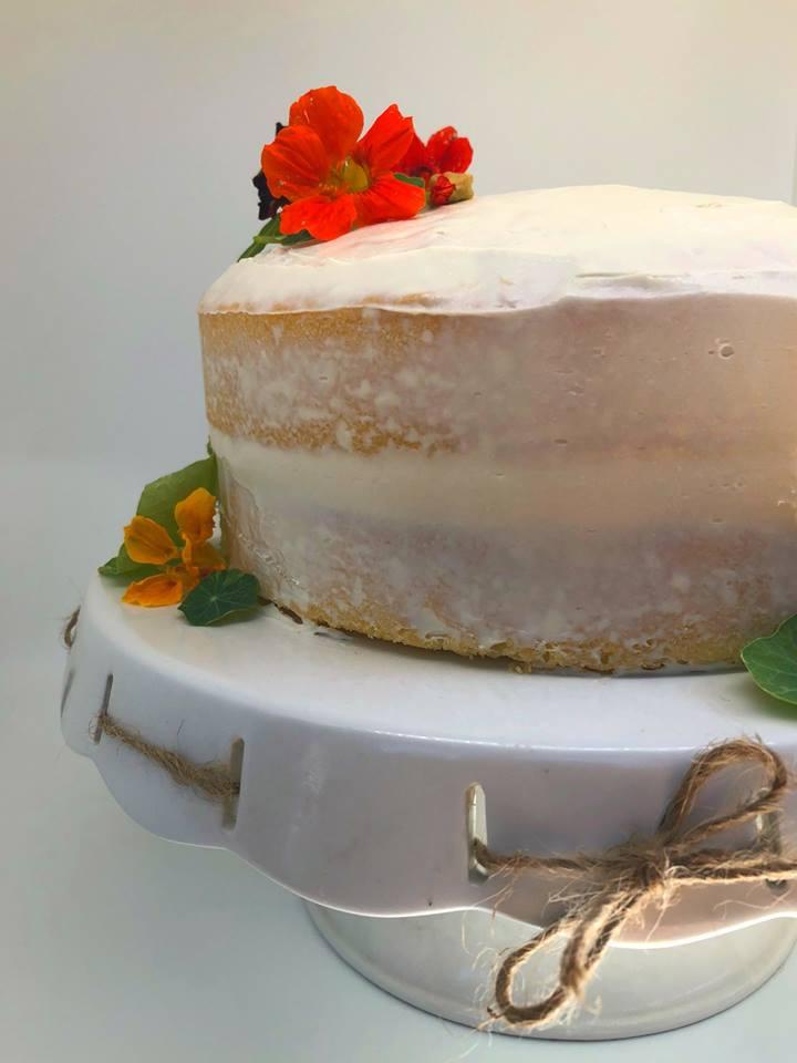 rustic keto vanilla cake