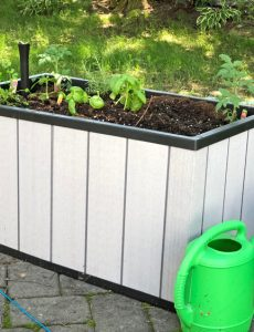 the Sequoia Planter by Keter makes gardening easier