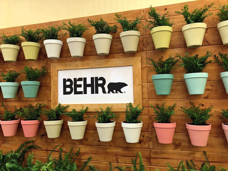 the behr paint booth at the 2018 Haven blog conference in Charleston, S.C.