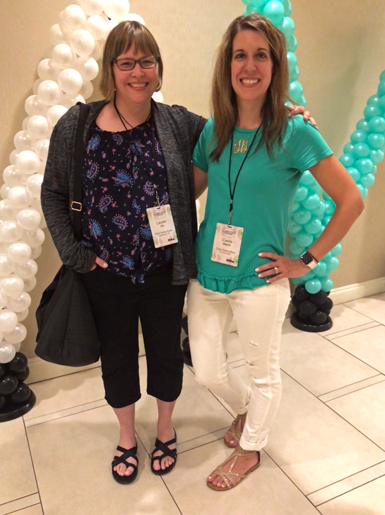 Lauren of Mom Home Guide and Carrie of Curly Crafty Mom at the 2018 Haven Blog Conference in Charleston, S.C.