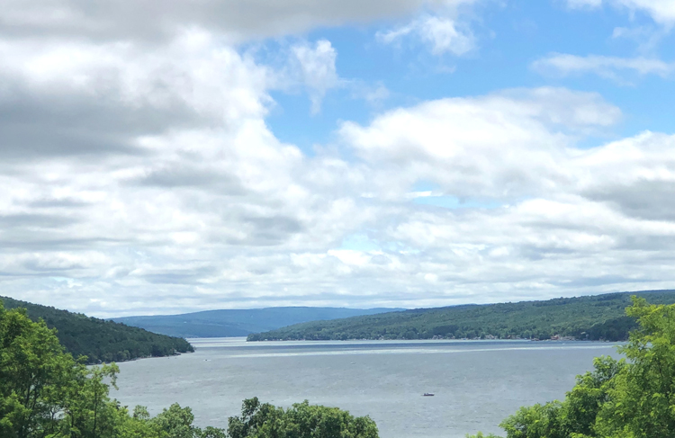scenic overlook at Bluff Point in the Finger Lake of Keuka Lake