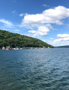 view of Keuka Lake from Hammondsport, New York
